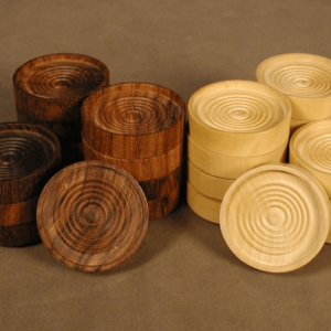 Sheesham Wood Stacking Checkers