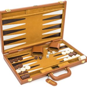Viscount Backgammon Set Leather Case
