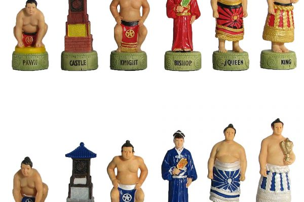 Hand Painted Sumo Chess Pieces