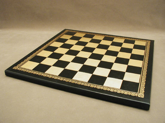 Pressed Leather Board Black and Gold