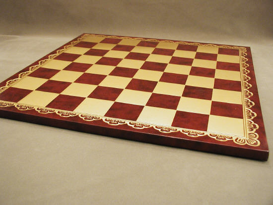 18inch Pressed Leather Board Burgundy and Gold