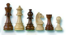 Tournament Staunton Solid Maple Chess Pieces