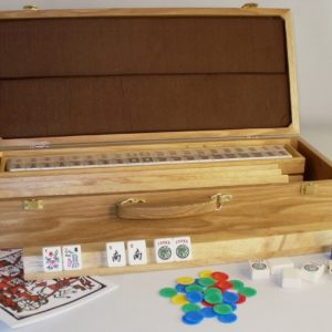 American Mah-Jong Set with Oak Case