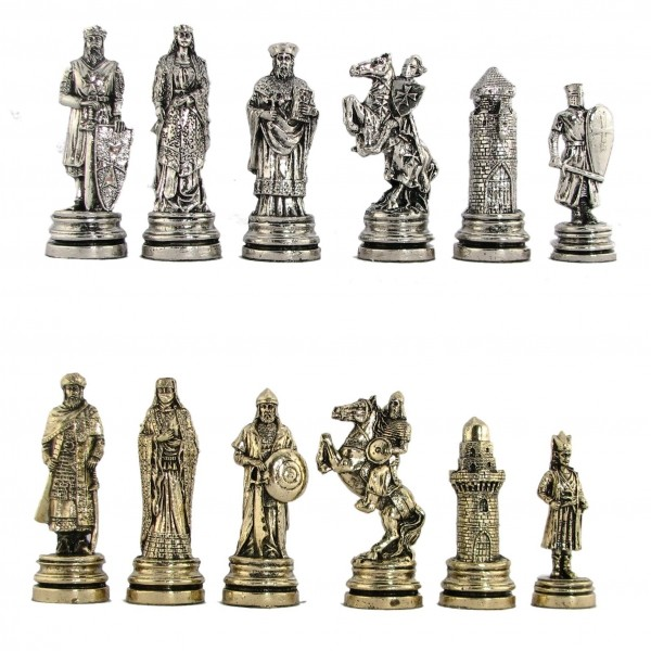 Crusaders and Saracens Metal Chess Pieces