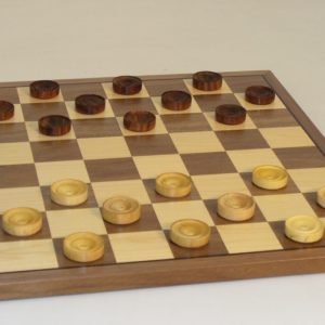 "12"" Classic Wood Checker Set"