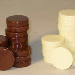 Urea Brown and Ivory Backgammon Checkers