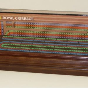 Royal Cribbage Walnut Stained Cribbage Box