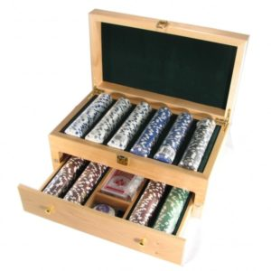 Deluxe Poker Set with Wooden Storage Box