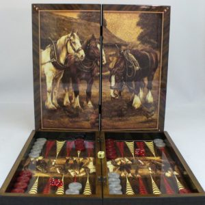 "20"" Yenigun Tavla Clydesdale Backgammon Set"