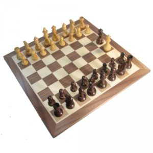 19 inch Walnut French Staunton Chess Set