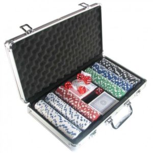 300 Chip Aluminum Poker Set Houston