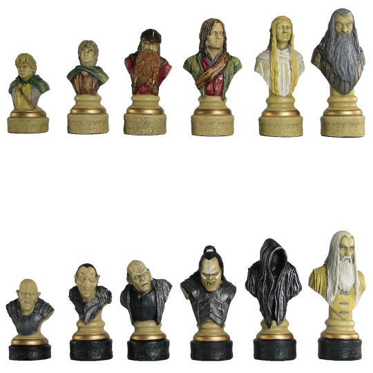 The Lord of the Rings Hand Painted Chess Set