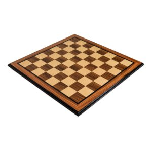 Rosewood and Maple Chess Board
