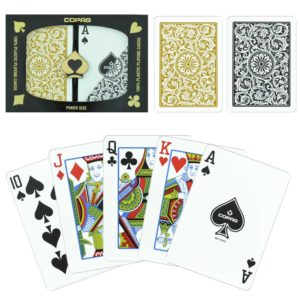 Copag Poker Cards Black and Gold Regular