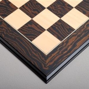 Tiger Ebony and Maple Standard Chessboard