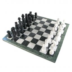 Marble Chess Set - Black and White