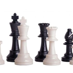 Triple Weighted Regulation Plastic Chess Pieces