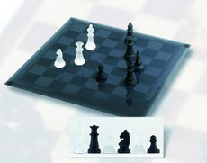 The Glass Chess Set Frosted Glass Chess Board