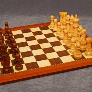 Staunton Deluxe Chessmen and Champion Board