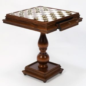 Alabaster Table Chess Backgammon Checkers