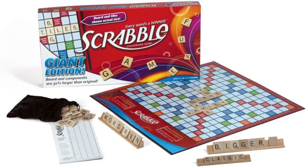 GIANT Scrabble Board Game Wooden Tiles | Quality Games TX