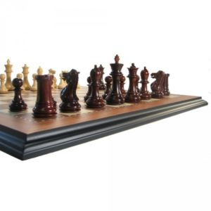 4 Luxe Legionnaire Crimson Rosewood Chess Set
