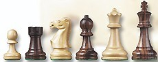 French Staunton Jr. Wooden Chessmen Set