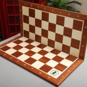 Folding Mahogany & Maple Tournament Chessboard