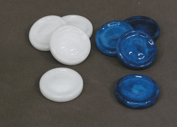 Blue and White Alabaster Checkers