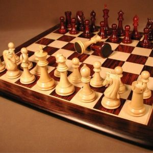 Chetak Bud Rosewood Chess Set