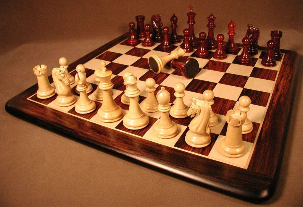Chetak Bud Rosewood Chess Set And Board Quality Games Tx