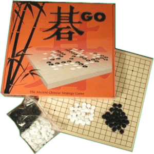 Basic Go Set Wood Board Plastic Stones