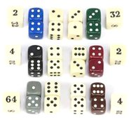 Backgammon Dice Set and Doubling Dice Set