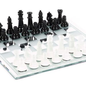 The Glass Chess Set With Board | Quality Games TX
