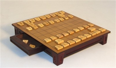 Japanese Shogi Set with drawer Houston