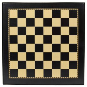 "Black and Maple Wood Chess Board with 2"" Squares"