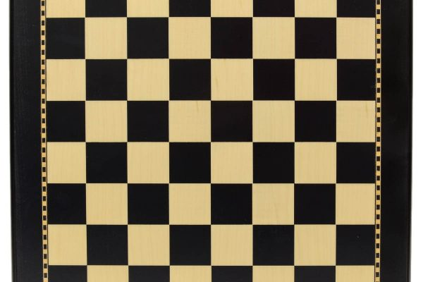 Black and Maple Wood Chess Board with 2″ Squares