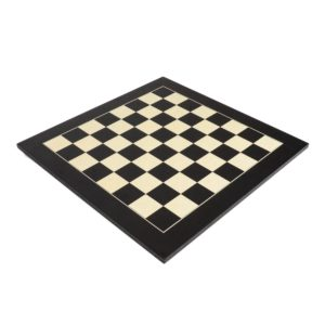 "Deluxe Black Wood Chess Board with 2 1/8"" Squares"