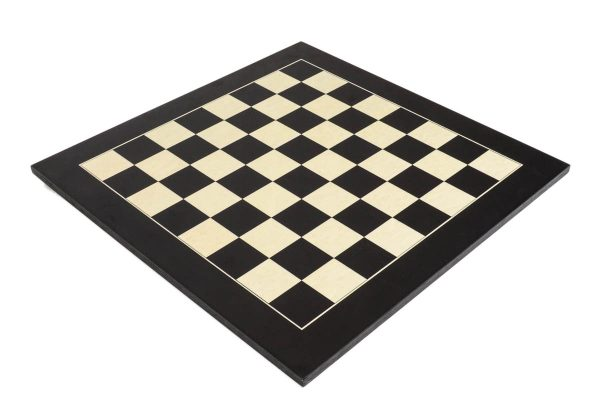 Deluxe Black Wood Chess Board with 2 1/8″ Squares
