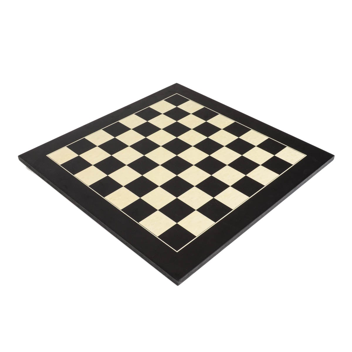 """Deluxe Black Wood Chess Board with 2 1/8"""" Squares"""