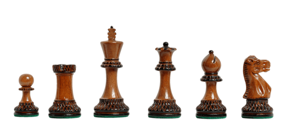 The Burnt Grand Master II Series Chess Pieces