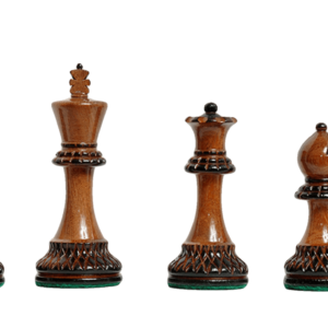Burnt Golden Rosewood Master Series Chess Pieces