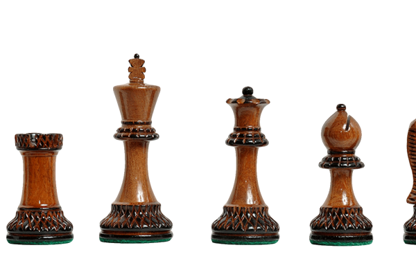 Burnt Golden Rosewood Grand Master Series Chess Pieces