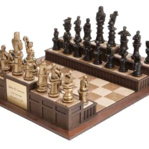 "Approach the Bench"" Legal Chess Set"