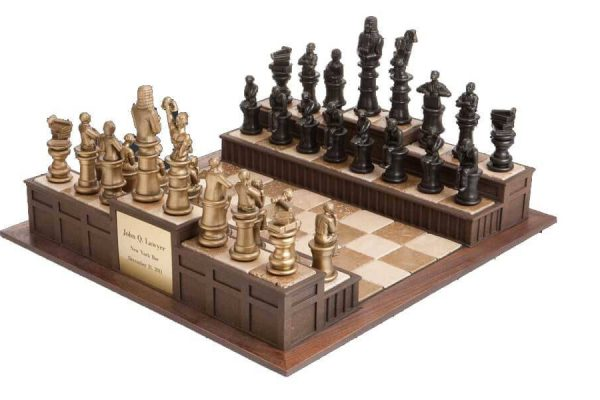 Approach the Bench Legal Chess Set