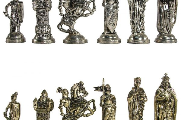 Crusaders Metal Chess Pieces