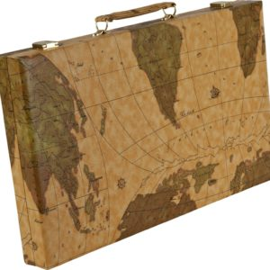 Leatherette backgammon map