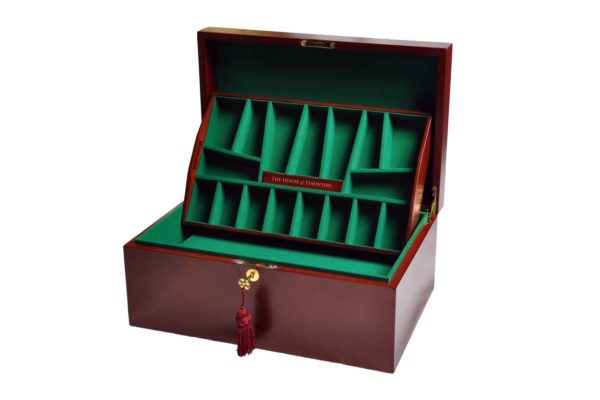 Fitted Coffer Chess Box-Mahogany