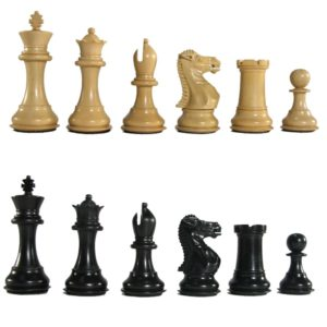 "3"" MoW Legionnaires Ebony Staunton Chess Pieces"