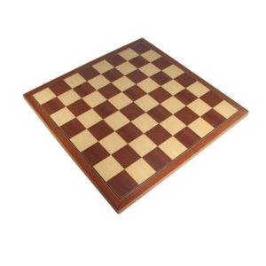 "18"" European Mahogany Chess Board"